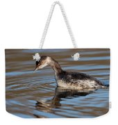 Black-necked Grebe About To Dive Weekender Tote Bag