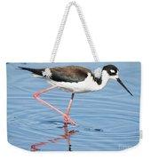 Black-necked Stilt Wading  Weekender Tote Bag