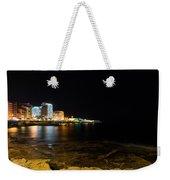 Black Night Bright Lights - Sliema Famous Waterfront Weekender Tote Bag