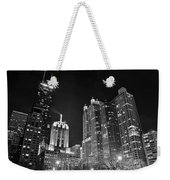 Black Night In The Windy City Weekender Tote Bag