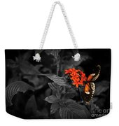 Black-orange Butterfly Weekender Tote Bag