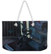 Black Orchid And Horse Weekender Tote Bag