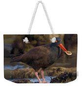 Black Oyster Catcher Weekender Tote Bag