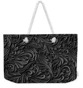 Black Paper Floral Seamless Pattern Weekender Tote Bag