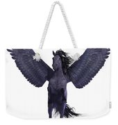 Black Pegasus On White Weekender Tote Bag