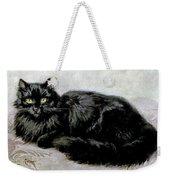 Black Persian Cat Weekender Tote Bag