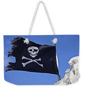 Black Pirate Flag  Weekender Tote Bag