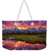 Black Ponds Sunset Weekender Tote Bag