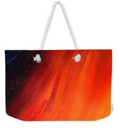 Black-red-yellow Abstract Weekender Tote Bag
