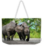 Black Rhinoceroses Weekender Tote Bag