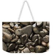 Black River Stones Portrait Weekender Tote Bag by Steve Gadomski