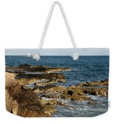 Black Rock Point And Sailboat Weekender Tote Bag