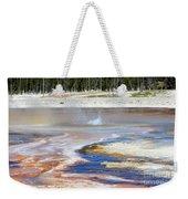 Black Sand Basin Geysers In Yellowstone National Park Weekender Tote Bag