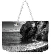 Black Sand Beach Weekender Tote Bag by Break The Silhouette