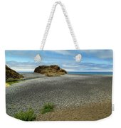 Black Sand Beach On The Lost Coast Weekender Tote Bag