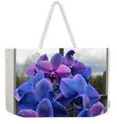 Black Sapphire Orchids  Weekender Tote Bag by Aaron Berg