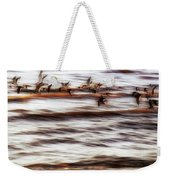 Black Skimmers Of Long Beach - Mississippi - Birds Weekender Tote Bag