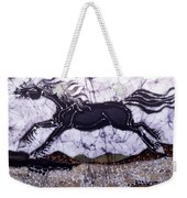 Black Stallion Gallops Over Stones Weekender Tote Bag