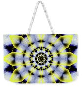 Black, White And Yellow Sunflower Weekender Tote Bag