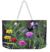 Black Swallowtail Butterfly In August  Weekender Tote Bag
