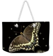 Black Swallowtail On Black Weekender Tote Bag