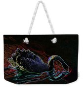 Black Swan In Color Weekender Tote Bag
