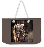 Black Tongue Of The Giraffe Weekender Tote Bag