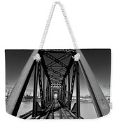 Black Tracks Weekender Tote Bag