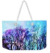 Black Trees Bright Pastel Space Weekender Tote Bag
