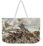 Black Troops Of The Fifty Fourth Massachusetts Regiment During The Assault Of Fort Wagner Weekender Tote Bag