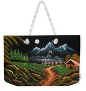 Night View With Full Moon Weekender Tote Bag