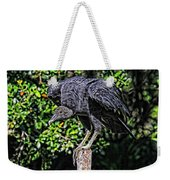 Black Vulture On A Fence Post Weekender Tote Bag