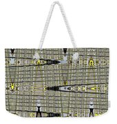 Black Walnut Drawing With Yellow Abstract Weekender Tote Bag