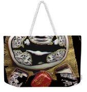 Black White And A Little Spice Weekender Tote Bag