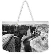 Black White Colorado River  Weekender Tote Bag