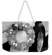 Black White Skulls Classic Car  Weekender Tote Bag