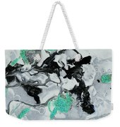 Black, White, Turquoise And Silver Weekender Tote Bag