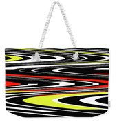 Black Yellow Red White Abstract Weekender Tote Bag