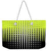 Black Yellow White With Abstract Action Weekender Tote Bag