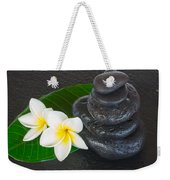 Black Zen Stones Weekender Tote Bag