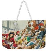 Blackbeard And His Pirates Attack Weekender Tote Bag