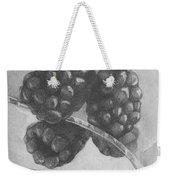 Blackberries On Glass Weekender Tote Bag