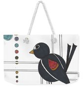 Blackbird With Circles Weekender Tote Bag