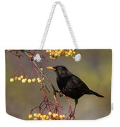 Blackbird Yellow Berries Weekender Tote Bag