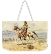 Blackfoot Indian. A Crow Scout Weekender Tote Bag