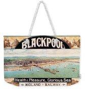 Blackpool, England - Retro Travel Advertising Poster - Seaside Resort - Vintage Poster Weekender Tote Bag