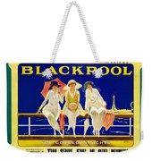 Blackpool, England - Retro Travel Advertising Poster - Three Fashionable Women - Vintage Poster -  Weekender Tote Bag