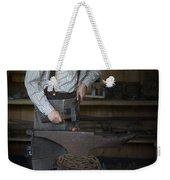 Blacksmith At Work Weekender Tote Bag