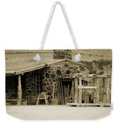 Blacksmith Shop 1867 Cove Creek Fort Utah Photograph In Sepia Weekender Tote Bag