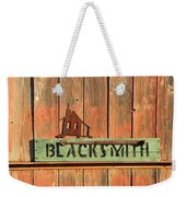 Blacksmith Sign Weekender Tote Bag
